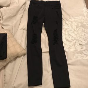 Express mid rise legging black ripped jeans